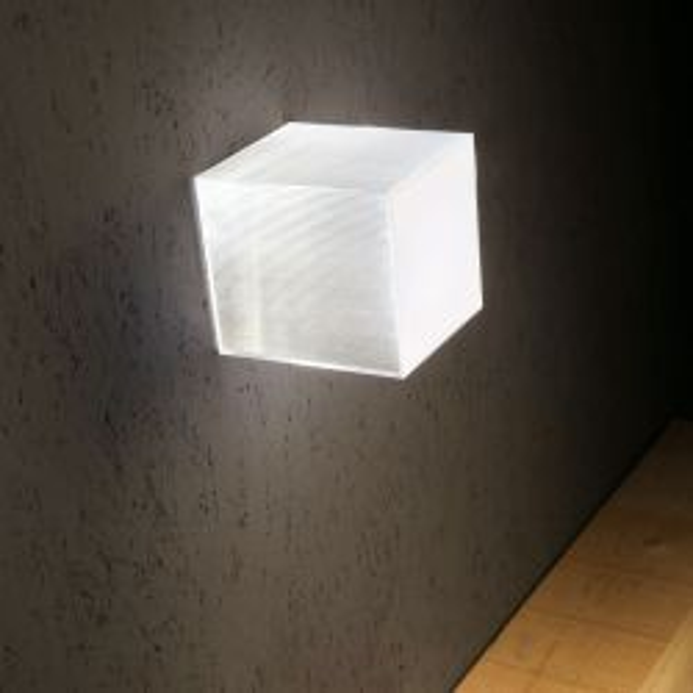 Studio Italia Design Beetle Mini Cube LED-Wand- und Deckenleuchte-Weiß matt/klar; mit LED (3000K)