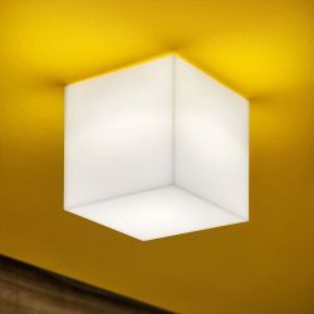 Studio Italia Design Beetle Mini Cube LED-Wand- und Deckenleuchte-Weiß matt; mit LED (3000K)