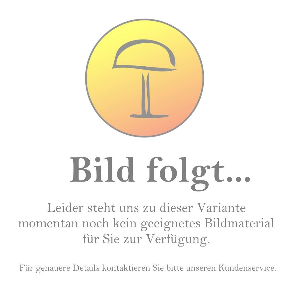 Occhio Io Giro Doppio Volt LED-Deckenstrahler-Schwarz/Chrom; mit LED (2700K)