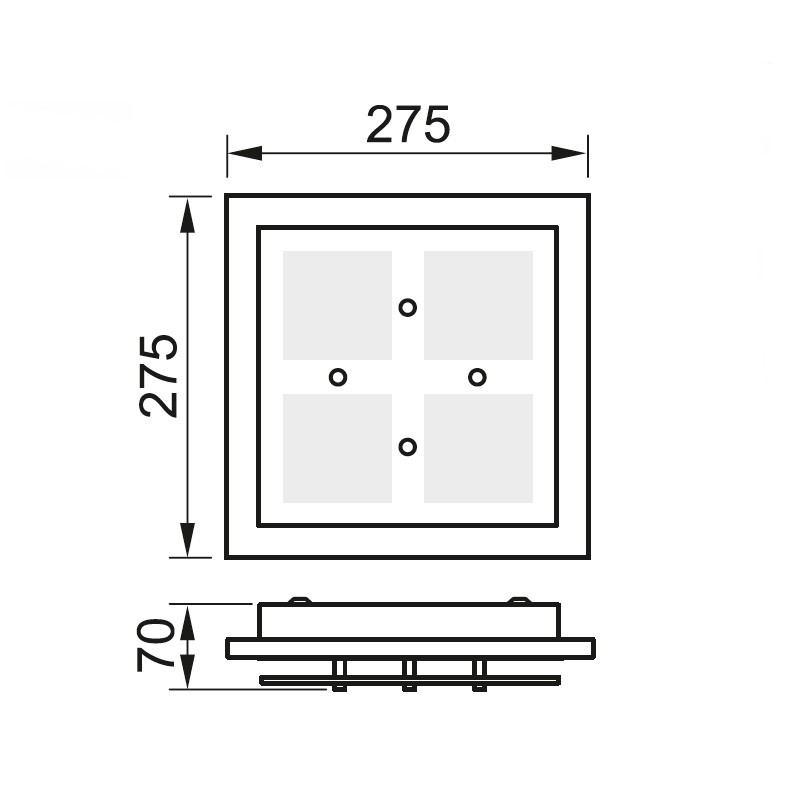 grossmann domino 76 272 063 led deckenleuchte beim online. Black Bedroom Furniture Sets. Home Design Ideas